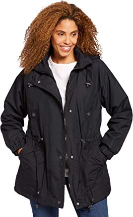 Woman Within Plus Size Women's Plus Size Fleece-Lined Taslon Anorak