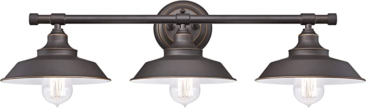 Westinghouse Lighting 63434 Iron Hill Three-Light Indoor Wall Fixture, Oil Rubbed Bronze Finish with Highlights