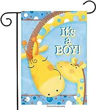 Briarwood Lane It's A Boy Garden Flag Baby Shower Giraffes Welcome 12.5