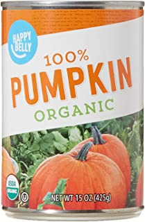 Amazon Brand – Happy Belly Organic 100% Pumpkin, 15 Ounces (Pack of 12)