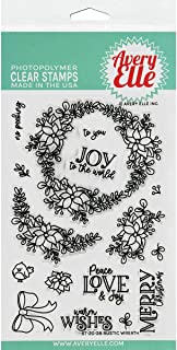 Avery Elle Clear Set RUS, Rustic Wreath, One Size