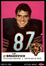 1969 Topps # 95 Ed O'Bradovich Chicago Bears (Football Card) Dean's Cards 5 - EX Bears