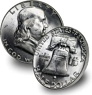 1957 P Franklin Silver Half Dollar 50C Brilliant Uncirculated