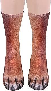 3D Socks Unisex Adult and Kids Animal Paw Crew Socks - Sublimated Print