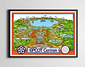 Vintage EPCOT CENTER Inaugural Year Park Map Poster! (24