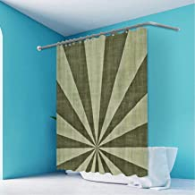 ALUONI Grudge Sunburst Military Camouflage Colors Background Durable Bath Curtains Shower,okjeff6532o for Bathroom,65''W x 71''H