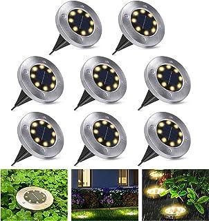 Lampy solarne na zewnątrz, lampy solarne do ogrodu i na zewnątrz, wodoodporne lampy solarne LED, oświetlenie ogrodowe, sol...