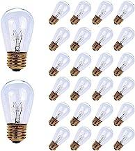 MineTom 26-Pack S14 Replacement Light Bulbs - 11 Watt Warm Incandescent Edison Light Bulbs with E26 Medium Base for Commer...
