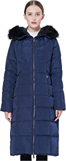 Orolay Women's Thickened Puffer Down Jacket Winter Hooded Coat