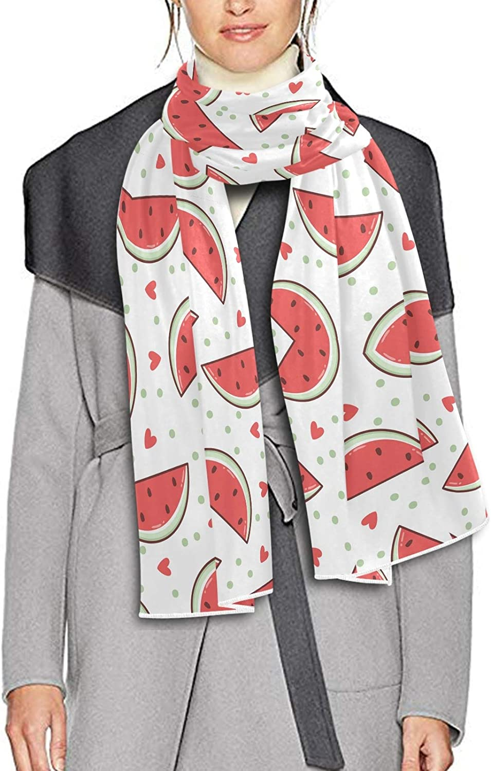 Scarf for Women and Men Fruits Watermelon Scarlet Blanket Shawl Scarves Wraps Thick Soft Winter Oversized Scarf Lightweight
