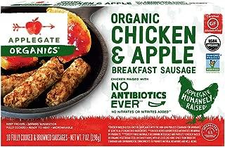 Applegate, Organic Chicken & Apple Breakfast Sausage, 7oz (Frozen)