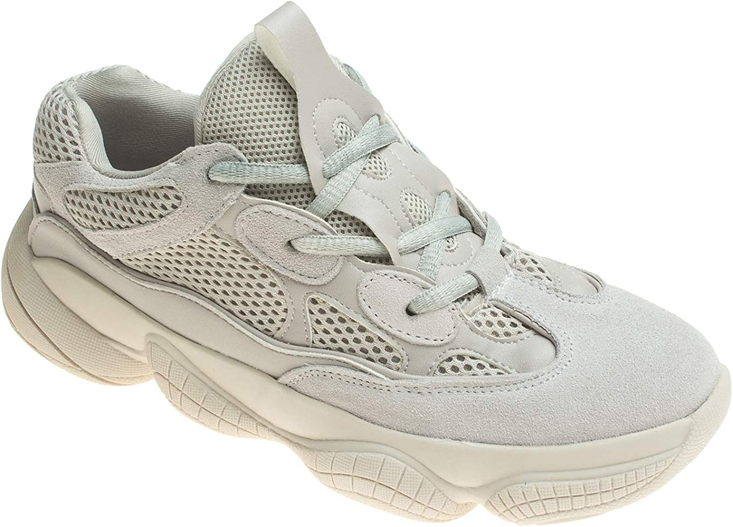 AnnaKastle Womens Oversized Rubber Sole Chunky Fashion Sneaker Trainer
