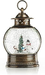 ReLive Christmas Light-Up Snow Globe Lantern - Snowman Family