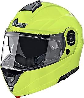 Germot Motorrad Klapp-Helm GM 960, kratzfestes Visier, fluo-gelb, S