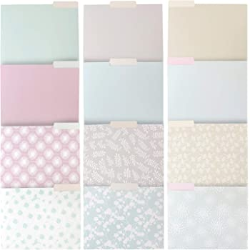 Decorative File Folders, Letter Size (5.5 x 5.5 Inches, 5-Pack)