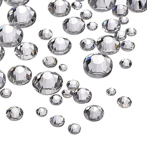 b5f239452a8ee 1000 Pieces Clear Flat Back Rhinestones Round Crystal Gems 1.5 mm - 5 mm, 5