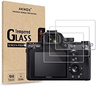[3-Pack] Tempered Glass Screen Protector for Sony A9 A7II A7RII A7SII A77II A99II RX100 RX100V RX1 RX1R RX10 RX10II, AKWOX...