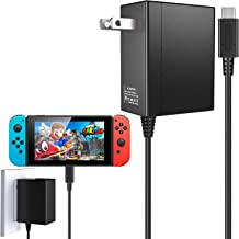 Charger for Nintendo Switch, AC Adapter for Nintendo Switch Fast Charger DC 15V/2.6A Power Adapter with 5ft USB Type C Charger Cable for Nintendo Switch Dock Supports TV Mode