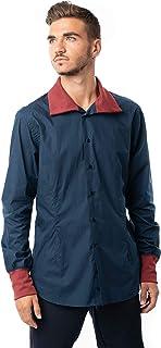 Morgan Visioli Fashion Camisa Hombre Azul Marino