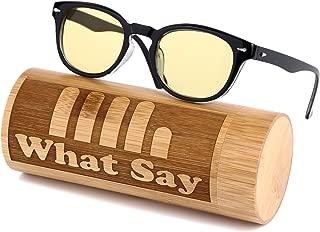 What Say ウェリントンフレーム カラー レンズ サングラス クリアレンズ 伊達メガネ 全11色 アジアンフィット トレンド UV400 メンズ レディース ソフト&ハードケース 付
