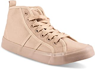 Twisted Women's KIX Mid-Top Lace up Fashion Sneaker