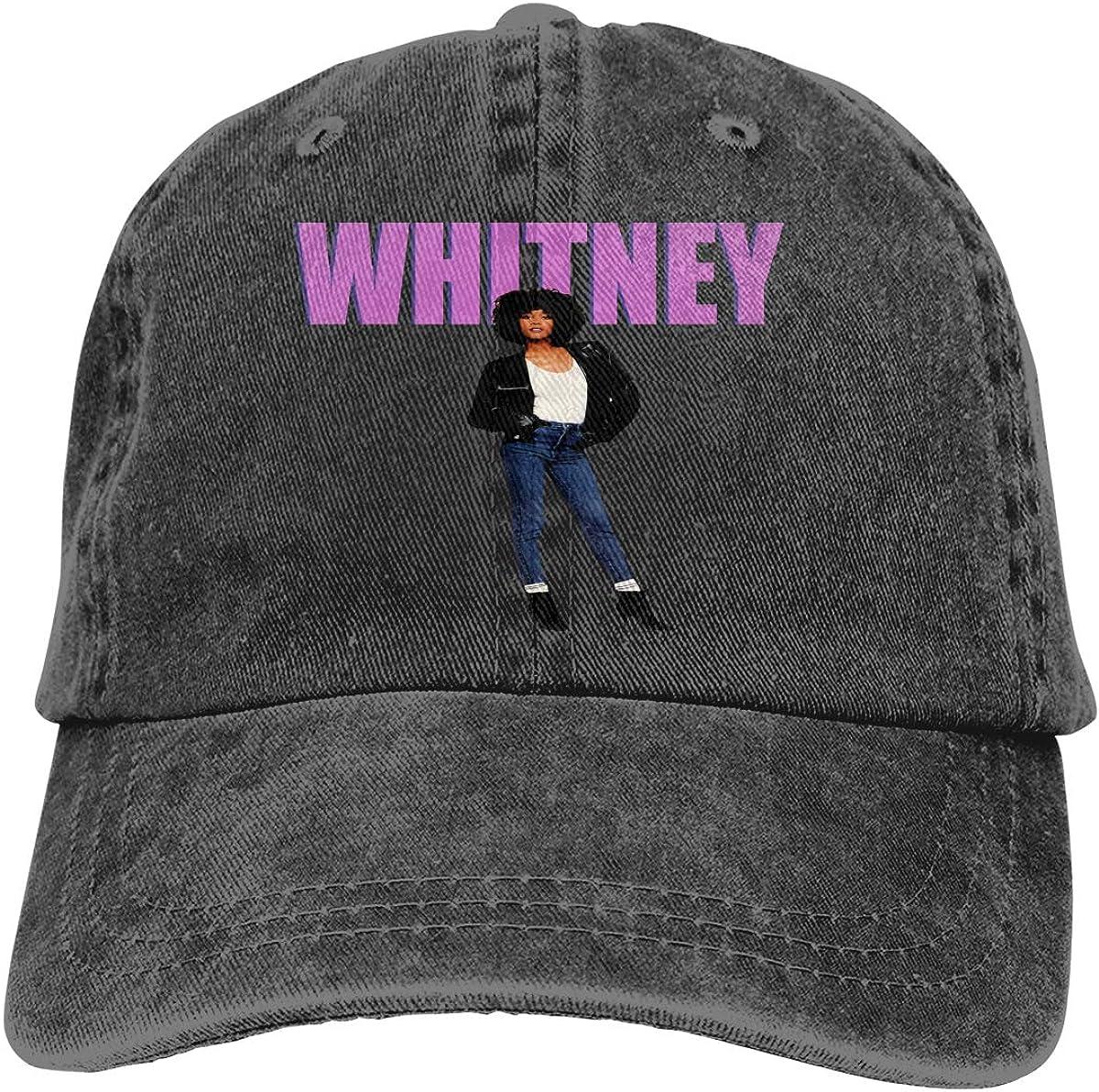 BrandiDobin W-h-itney H-ouston Hat Cotton Washed Denim Hat Adjustable Baseball Cap Unisex One Size