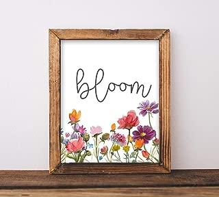 Baron56Daniel Printable Art Bloom Playroom Sign Classroom Decor Baby Girl Nursery Inspirational Quote Floral Graduation Gift Printables