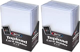 "BCW Clear Topload Card Holder for Standard Cards 3"" x 4"" (50-Count Total)"