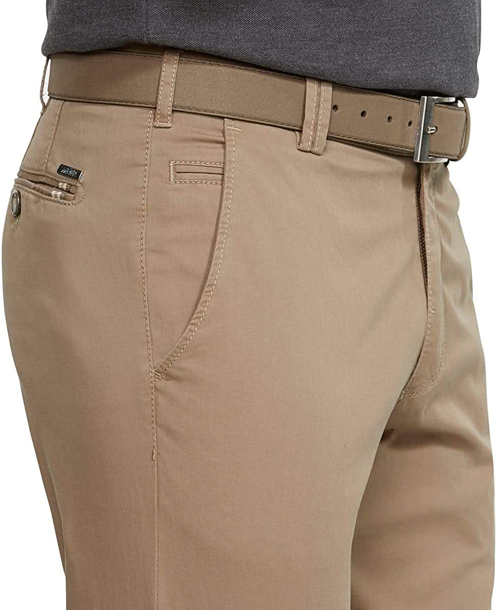 MEYER Men's Bonn Trousers Beige (Camel 43)