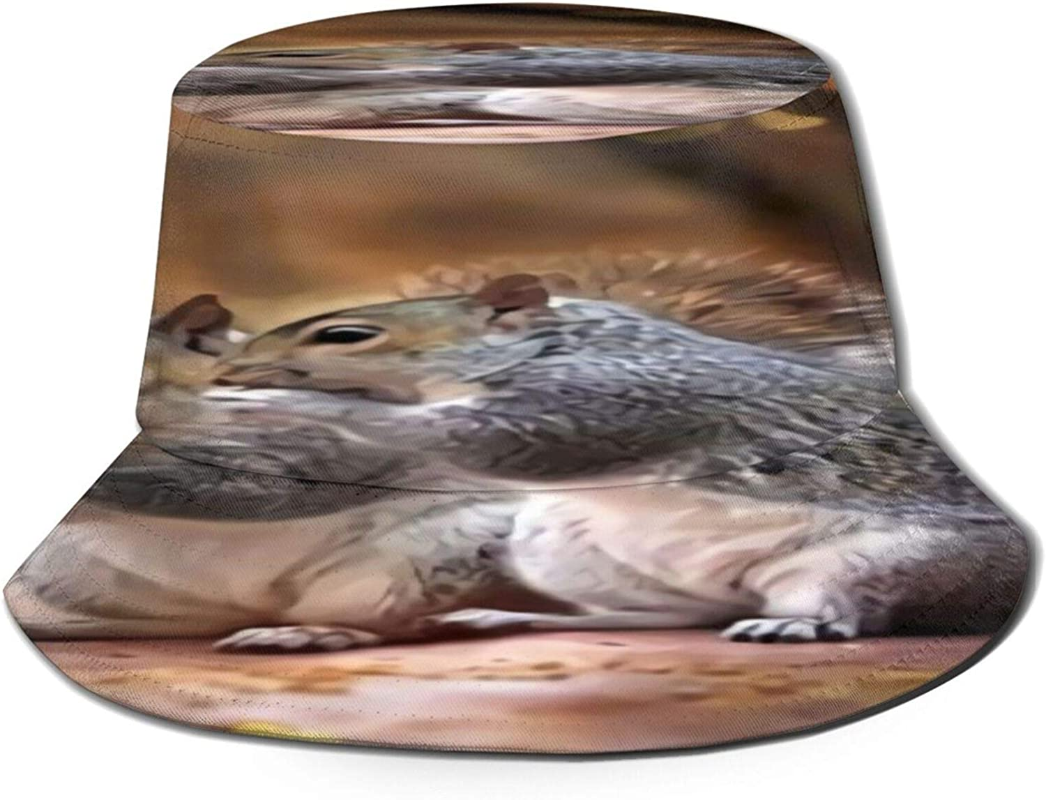 Max 59% OFF Squirrel Friends Bucket Hat Unisex Summer Dallas Mall Packable Fishe Sun
