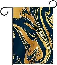 Tuinvlag, Decor Yard Banner Boerderij Outdoor Decoratie Goud en Zwart Patroon Verticaal 28x40 Inch