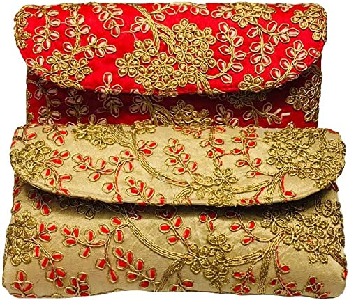 Silk Hand Clutch Bags Purse For Women Girls
