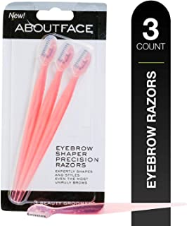Kai About Face Eyebrow Shaper Precision Disposable Razors, 3 Beauty Groomers per Package; Expertly Shape, Structure & Style Disorderly, Overgrown, Unruly Eyebrows With Professional-Grade Beauty Tool