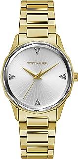 Wittnauer Marquee Women's Quartz Diamond Accent Silver-Tone Dial Gold-Tone Bracelet 33mm Watch WN4106