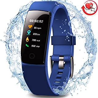 MorePro Waterproof Health Tracker,  Fitness Tracker Color Screen Sport Smart Watch, Activity Tracker with Heart Rate Blood Pressure Calories Pedometer Sleep Monitor Call/SMS Remind for Smartphones Gift