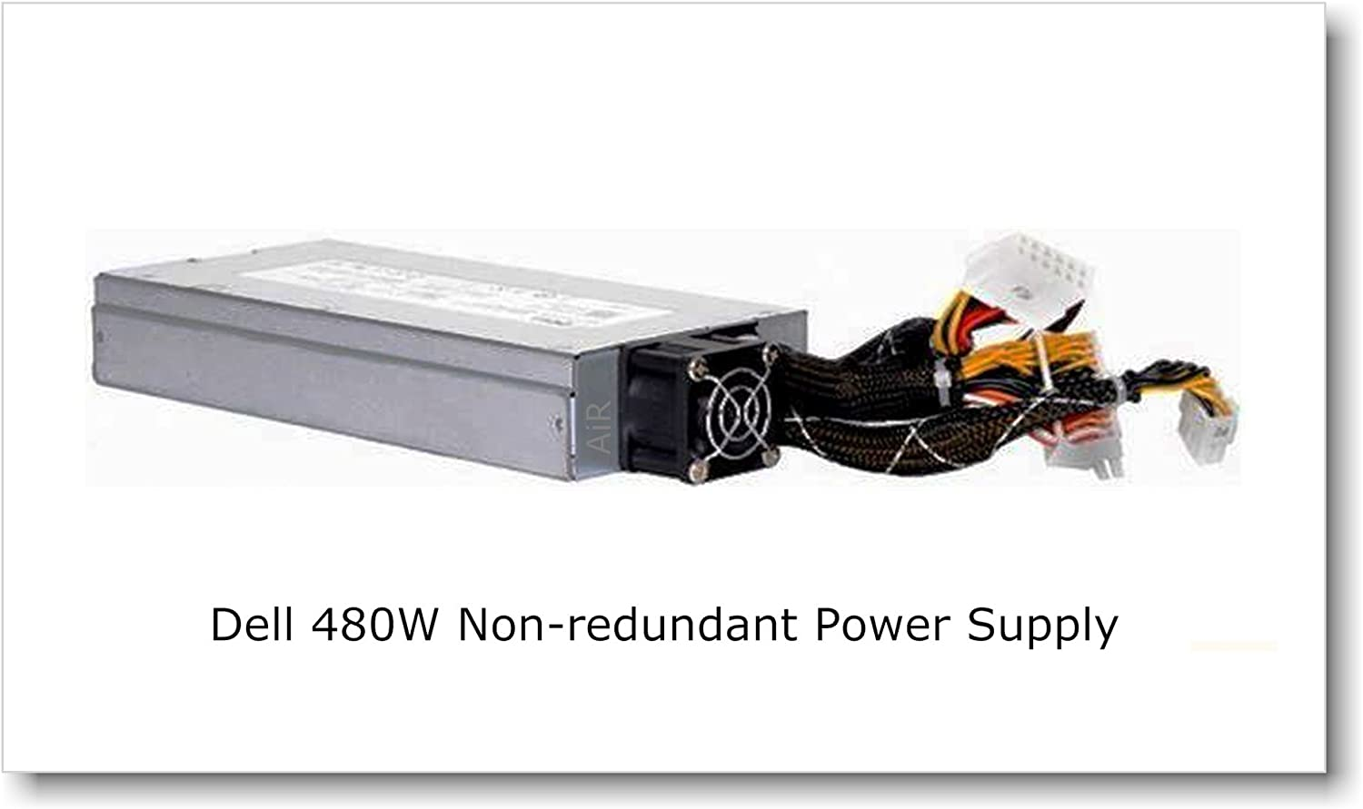 Genuine Dell power supply 80 PLUS certified, 480W non-redundant unit for PowerEdge R410, PowerEdge R415 and PowerEdge R510 servers. P/N# D480E-S0
