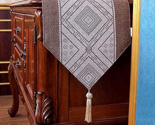 Kaxima Drapeau de Table, Table, Maison, Tissu, décoration, Drapeau de Table Basse 30  220cm