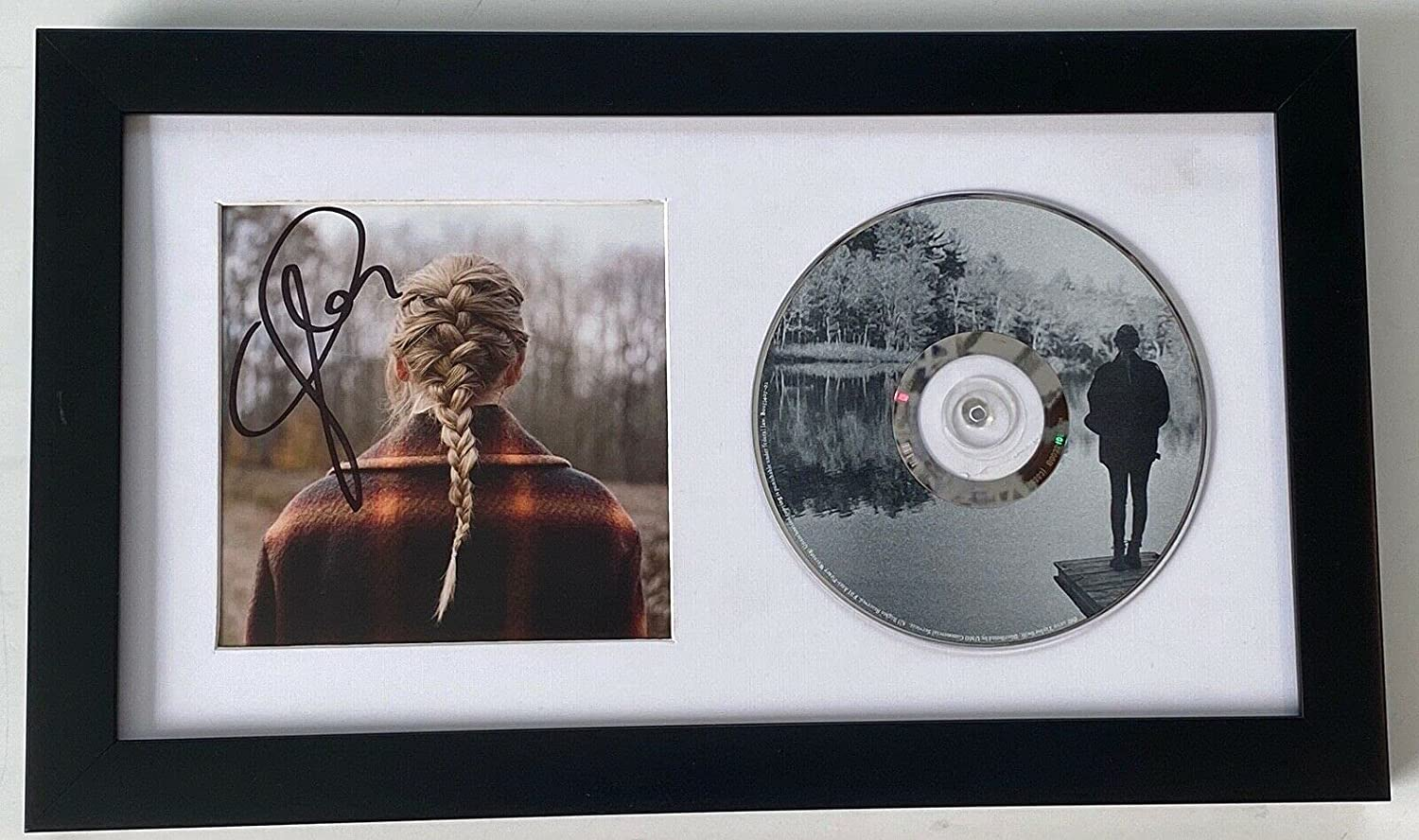 Taylor Swift Signed Autographed Evermore Booklet CD Displ Popularity Framed Max 55% OFF