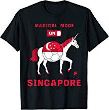Magical Mode On Singapore Soccer Unicorn T-Shirt