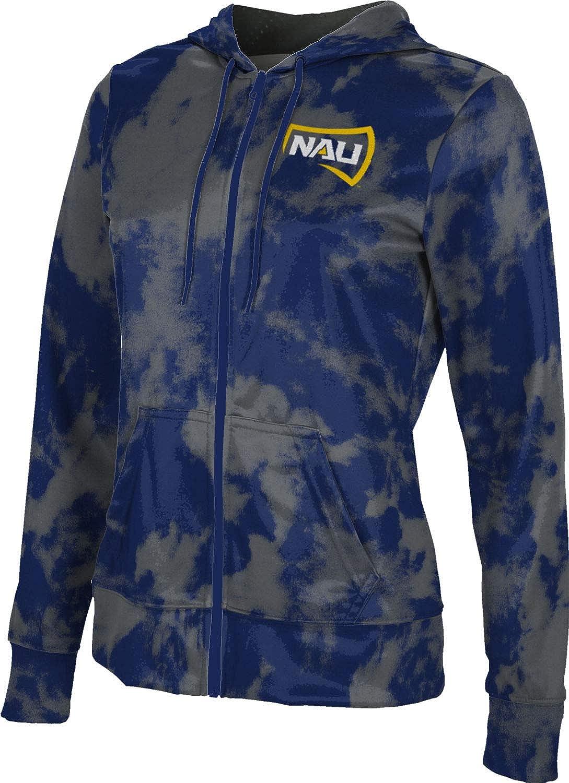 Northern Arizona University Girls' Zipper Hoodie, School Spirit Sweatshirt (Grunge)