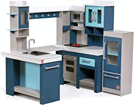 Step2 Grand Walk-in Wooden Kitchen   Large Wood Play Kitchen & Toy Accessories Set   Wood Play Kitchen for Kids