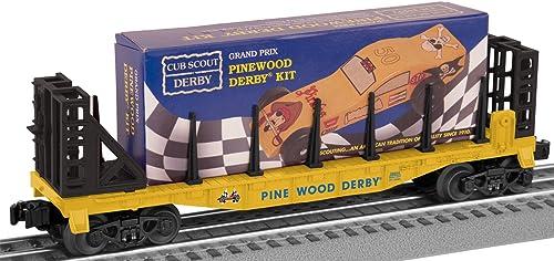 O-27 Flat w Pinewood Derby Kit, Boy Scouts by Lionel