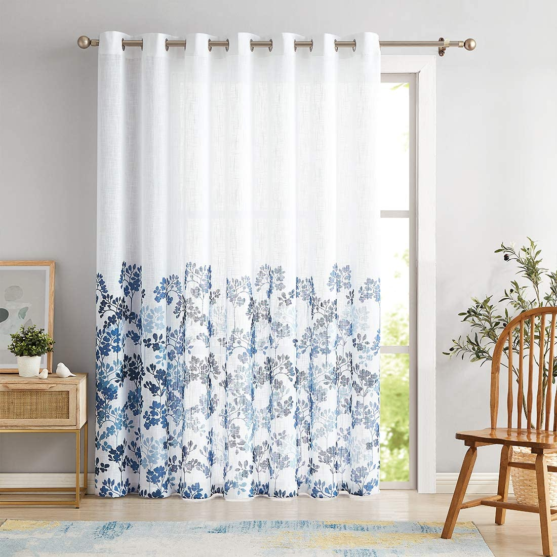 Metro Parlor Floral Sliding Door 100-inch for Extra Curtain Wide Direct store Deluxe