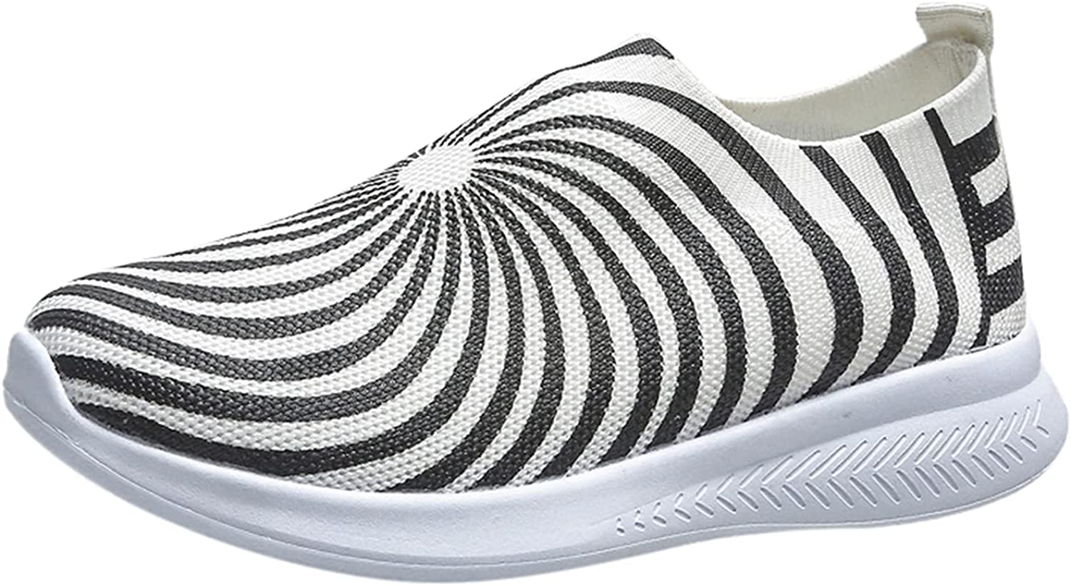 FADK Women's Fashion Sneakers Light Comfortable Breathable Slip-on Running Shoes Casual Shoes