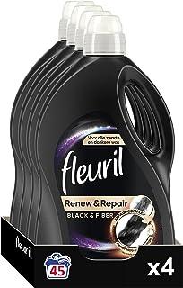 Fleuril Black & Fiber, Vloeibaar Wasmiddel, Zwarte Was, 180 (4x45) Wasbeurten
