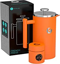 [COFFEE GATOR] [フレンチプレスコーヒーメーカー Large French Press Coffee Maker - Vacuum Insulated Stainless Steel (Gray, 34floz)] (並行輸入品)