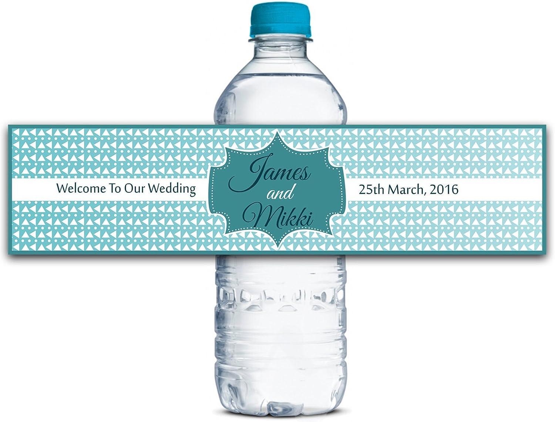 Kundenspezifische Wasserflasche Etiketten Selbstklebende wasserdichte kundenspezifische Hochzeits-Aufkleber 8    x 2  Zoll - 50 Etiketten B01A0VYXN8  | Spielen Sie auf der ganzen Welt und verhindern Sie, dass Ihre Kinder einsam sind  53ef4b