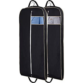 "Black 54/"" Suit Carrier Garment Cover Travel Bag Strong  Dress Lightweight 2 pack"