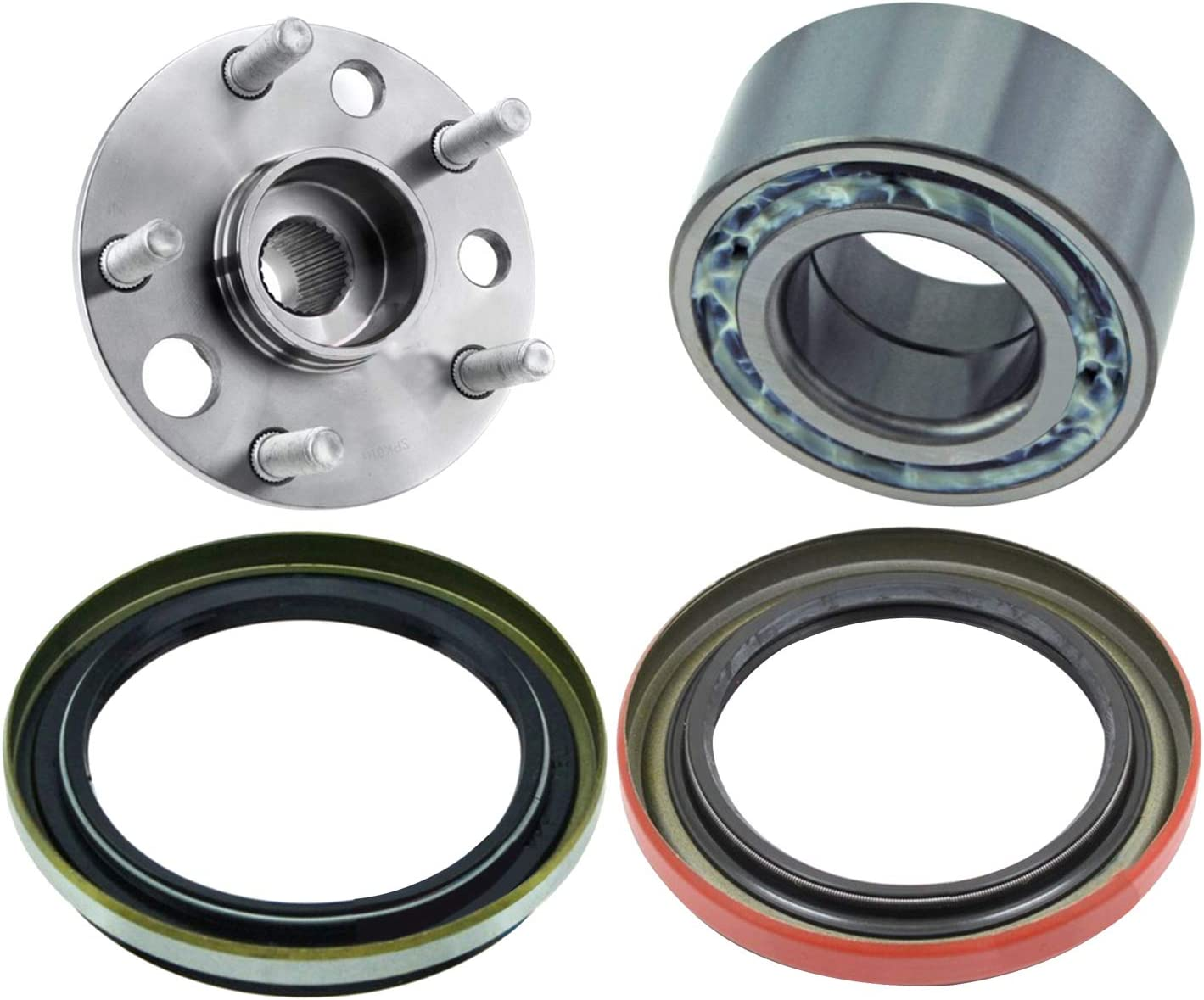 4Pcs Rear Wheel Hub Bearing Kit Highland Assembly Toyota for fit Max 44% OFF Recommended