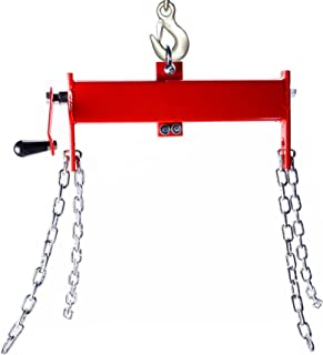 OrionMotorTech 2 Ton (4000lbs) Engine Hoist/Shop Crane/Cherry Picker Load Leveler with Chains